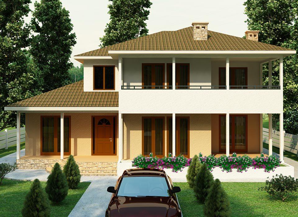 Каркасно панельный дом проект Саванна