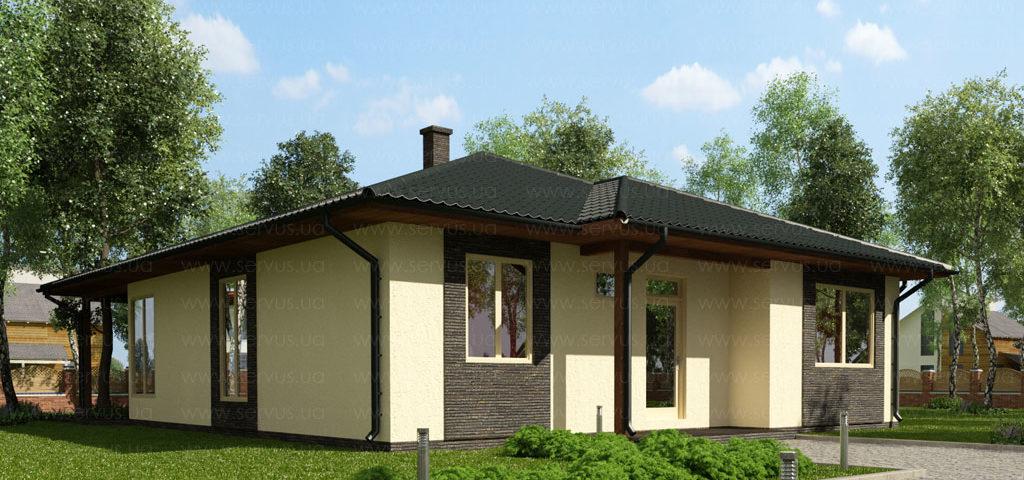 Проект каркасного дома Бруно