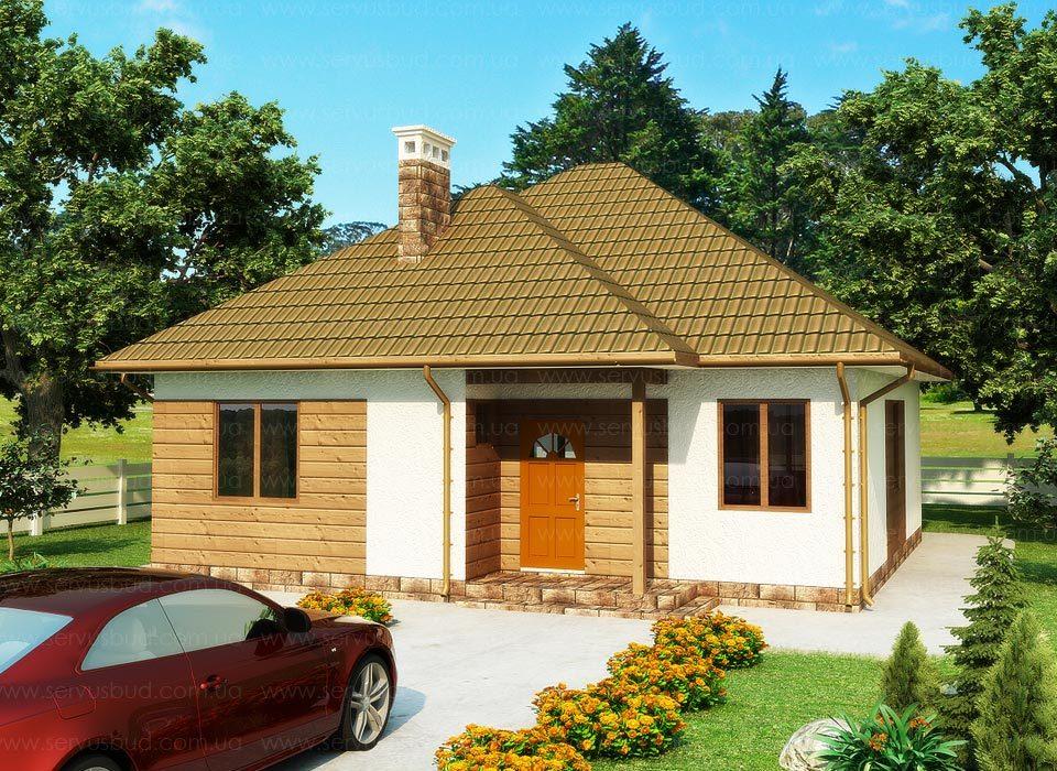 проект каркасно-панельного дома Грин