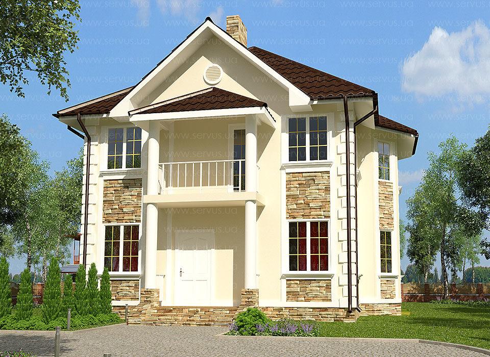каркасно-панельный дом проект Мини-Альянс