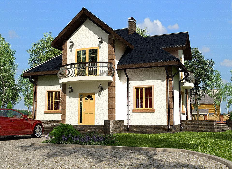 каркасно-панельный дом проект Варшава