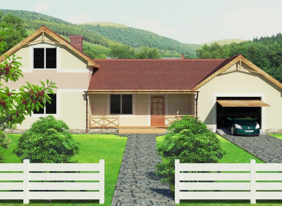 Дом по СИП технологии проект Калипсо