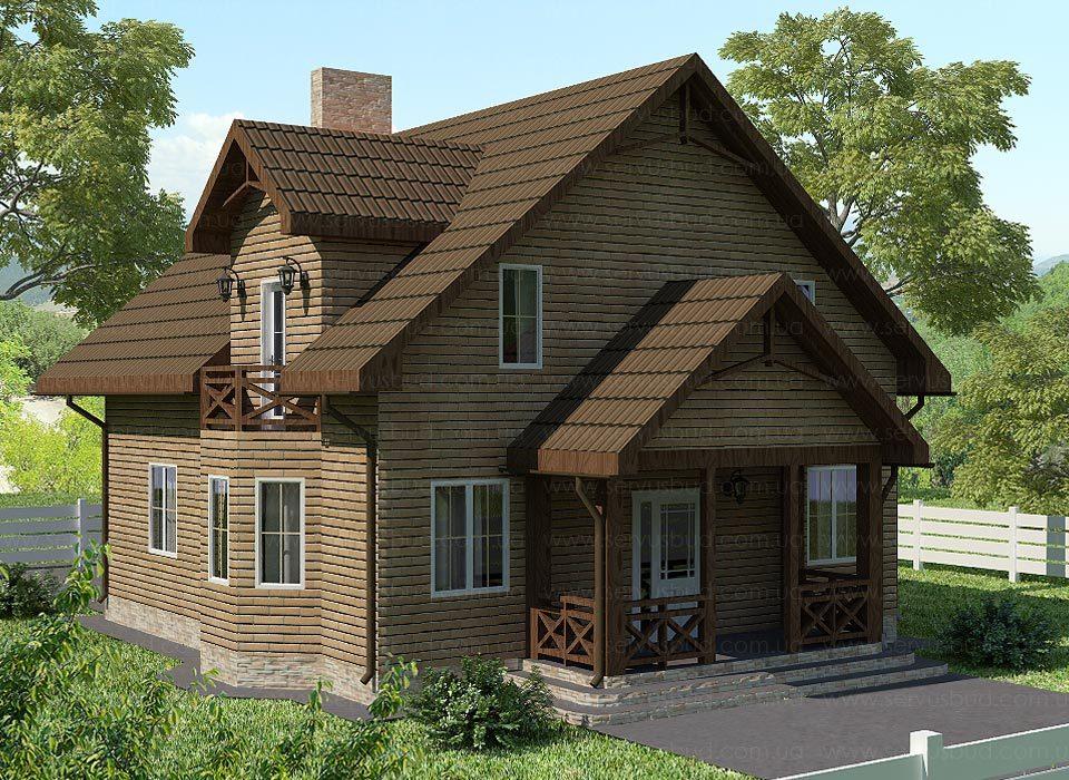 каркасно-панельный дом проект Честер