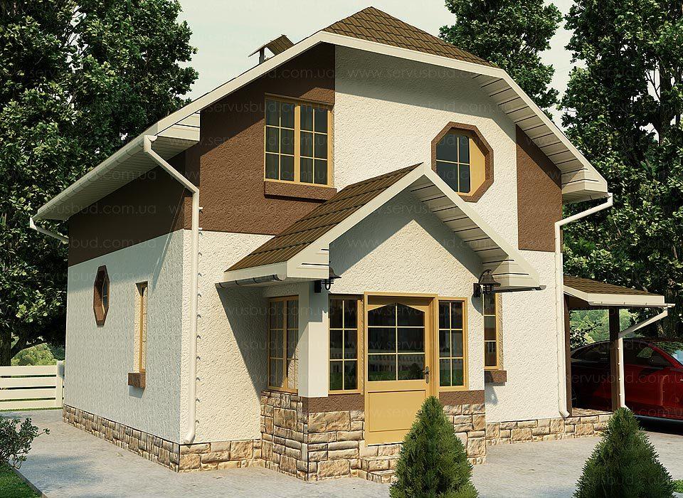 проект дома с мансардой Циклоп
