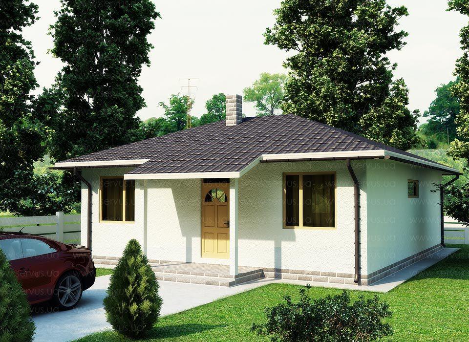 каркасно-панельный дом Кастор