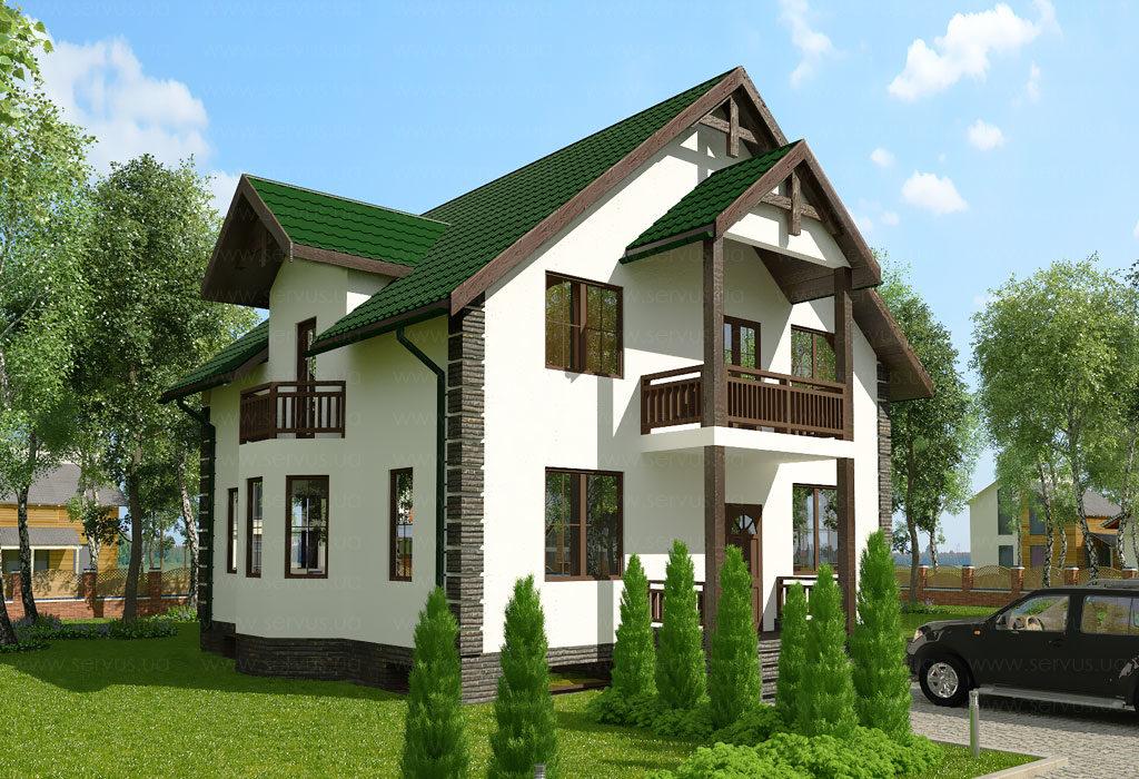 проект дома с мансардой Скус