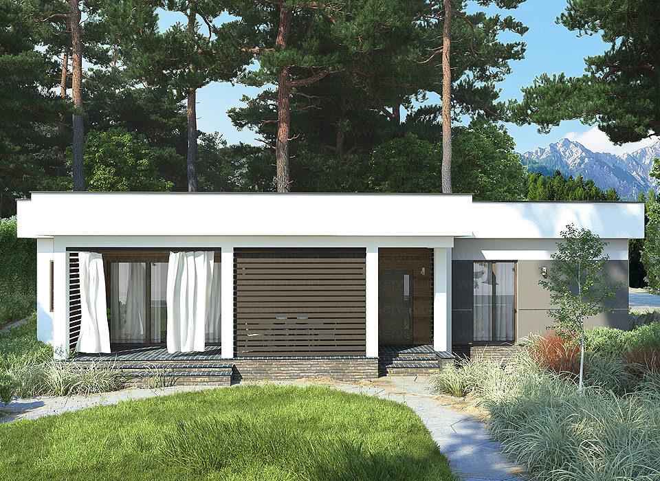 канадский дом в стиле хайтек проект Тусон