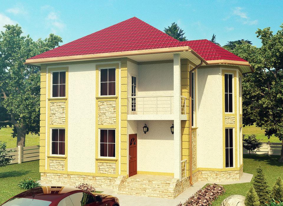 каркасно-панельный дом проект Адель